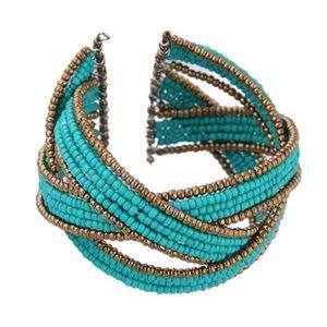 Bohemian Bangle Turquoise Wrap Bracelet Western